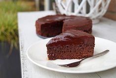 glutenvrije en lactosevrije chocoladetaart
