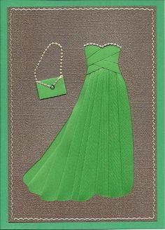 Geburtstagskarte Kleid