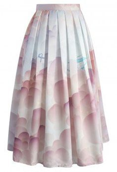 Balloon My Day Printed Midi Skirt - Bottoms - Retro, Indie and Unique Fashion