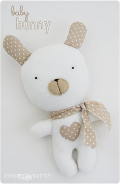 DIY Cute Bunny Doll - FREE Sewing Pattern and Tutorial