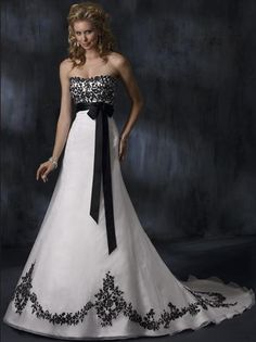 Maggie Sottero Wedding Dresses Anne Marie $333.88 Love the contrasting colors that she uses-cool