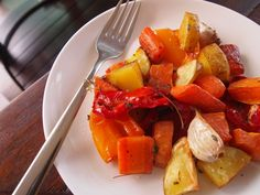 Chubby Hubby - A delicious and nutritious roasted vegetables tray bake