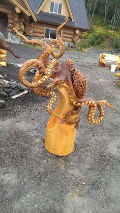 Wood Carving by Jordan Anderson, www.facebook.com/woodsculptures