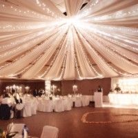 ceiling draping....had this at my wedding, probably my fave part of our decor from that company.