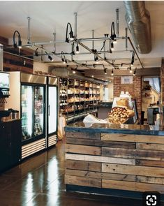 Rustic chic restaurant bar design: best reclaimed wood bars ideas on pi Rustic Coffee Shop, Rustic Cafe, Coffee Shop Design, Rustic Bakery, Wooden Cafe, Rustic Logo, Rustic Office, Rustic Bench, Rustic Shelves