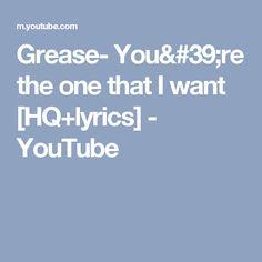 the one that i want grease lyrics