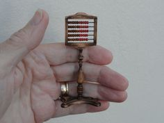 Victorian Style Abacus. By Lynn of Miniatures perfectly small. https://www.etsy.com/shop/LynnJowers?ref=hdr_shop_menu