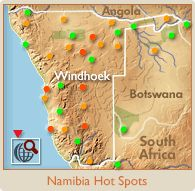 Namibia Hot Spots Map Namibia, Travel Route, Hot Spots, Trip Planning, Skeleton, Portal, South Africa, Coast, Map