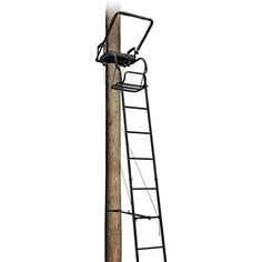 """Big Dog Tree Stand Ladder Foxhound II Loaded. 16' steel ladder treestand. 17 1/4"""" x 12"""" foot platform. 19 1/2"""" x 12 padded seat. Seat Height: 21 1/2"""". Padded ARM restadded flip-up shooting rail. Flip-up foot rest. Secures witatchet strainned ladder sections. Adjustable ladder support BAR. Fall-arrest system included. TMA approved. Weight Capacity: 300 lbs."""