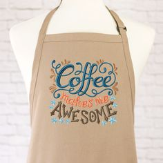 Coffee Apron - Funny Apron - Funny Coffee - Womens Apron - Mens Apron - Best Friend Gift - Coffee Lover Gift - Barista Apron - Coworker Gift by GoldenArrowLane on Etsy