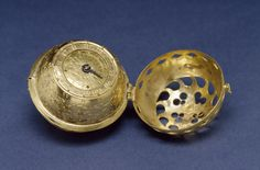 "German Spherical Table Watch - Melanchthon's Watch. This is the earliest dated watch known. It is engraved on the bottom: ""PHIL[IP]. MELA[NCHTHON]. GOTT. ALEIN. DIE. EHR[E]. 1530"" (Philip Melanchthon, to God alone the glory, 1530) A single winding kept it running for 12 to 16 hours, and it told time to within the nearest half hour. The perforations in the case permitted one to see the time without opening the watch. (http://art.thewalters.org 2014)"