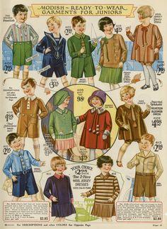 Vintage Catalog Page—Herrschners, 1928—Children's garments