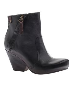 Look at this Black Red Way Leather Bootie on #zulily today!