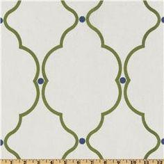 "Two 96"" x 50""  Custom Curtain Panels - Rod Pocket Panels Sheer  Kiwi, Blue and White. $105.00, via Etsy."