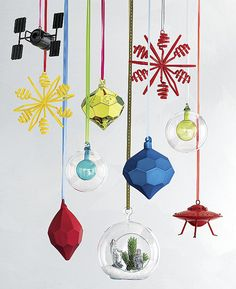 Ornaments in primary colors from CB2