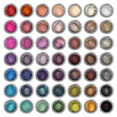 50 Ultra-Pigmented Mineral Eyeshadows