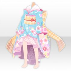 (Tops) New Year Girl Flower Fish Tail Kimono ver.A pink. Anime Girl Dress, Cool Anime Girl, Character Outfits, Character Art, Character Design, Dress Drawing, Drawing Clothes, Valentines Day Teddy Bear, Pastel Goth Art