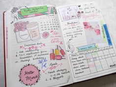 Bullet journaling march monthly spread