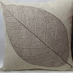 Cheap vintage pillow case, Buy Quality cushion cover directly from China designer cushion covers Suppliers: Vintage Pillow Case Retro Design Cushion Cover Cotton Linen Big Leaf Square