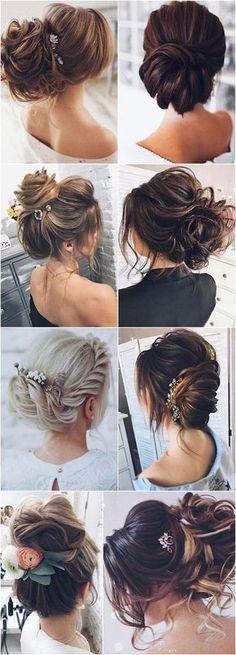 Wedding Hairstyle Inspiration – tonyastylist (Tonya Pushkareva - New Site Elegant Wedding Hair, Wedding Hair And Makeup, Wedding Updo, Bridal Hair, Hair Makeup, Trendy Wedding, Wedding Fun, Wedding Ideas, Best Wedding Hairstyles