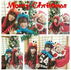 Girls' Generation's Sunny, Taeyeon, and Tiffany take selcas dressed up as Elmo and Cookie Monster | http://www.allkpop.com/article/2013/12/girls-generations-sunny-taeyeon-and-tiffany-take-selcas-dressed-up-as-elmo-and-cookie-monster