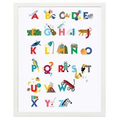 Help your child learn their ABC's in 2 languages (English & french) with a colourful poster! Each letter is accompanied by an illustration to describe it in both English and French. A lovely & lively addition to a child's bedroom or playroom. Personalised Gifts Handmade, Bespoke Design, Kids Learning, Your Child, Gifts For Kids, Playroom, Alphabet, Lettering, Wall Art