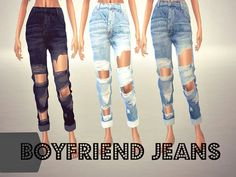 Boyfriend Jeans Found in TSR Category 'Sims 4 Female Everyday'