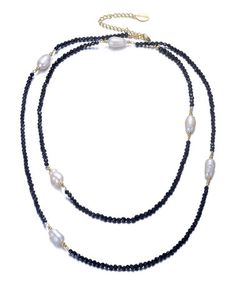Look what I found on #zulily! Black & White Pearl Serenity Necklace #zulilyfinds