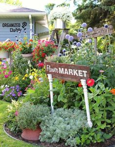 s how to transform your backyard into a junk garden, Include wooden signs for a…