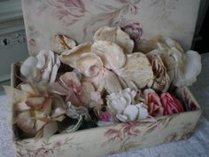 Antique millinery flowers.