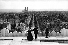 From the Arc de Triomphe Paris 1900 Neurdein brothers