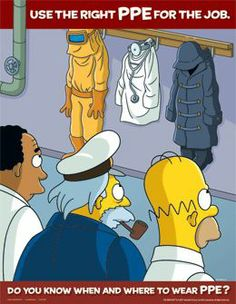 Workplace safety posters features The Simpsons characters Health And Safety Poster, Safety Posters, The Simpsons, Simpsons Funny, Safety Cartoon, Safety Slogans, Safety Quotes, Industrial Safety, Safety First