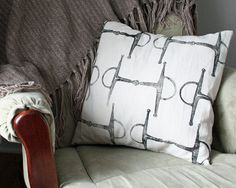 Equestrian Pillow Cover fits 18 x 18 pillow by redmaplerun on Etsy, $30.00 #etsy #equestrian