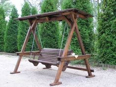 huśtawka ogrodowa drewniana - Szukaj w Google
