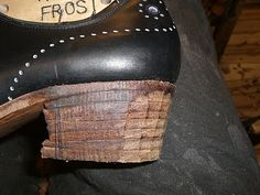 Bespoke Shoes Unlaced - a shoemaking blog: Stacked Leather Heels