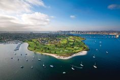 Coronado's finishing holes border San Diego Bay, which Cabrillo discovered in 1542.