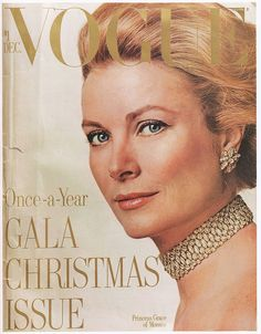 Grace Kelly, cover VOGUE, december 1971, ph. by R.Avedon