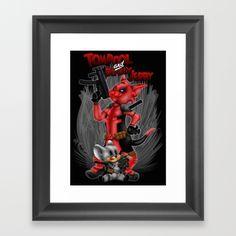 Tompool and deadly Jerry Framed Art Print #artprint #artdesign #frameart…
