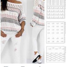 Crochet Blouse Free Pattern - Her Crochet Easy Sweater Knitting Patterns, Knit Vest Pattern, Crochet Patterns, Crochet Shirt, Cute Crochet, Knit Crochet, Diy Crafts Knitting, Crochet Ripple, Crochet Videos