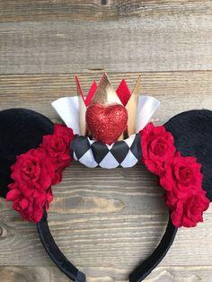 Reina de corazones Minnie Mouse orejas orejas de Disney