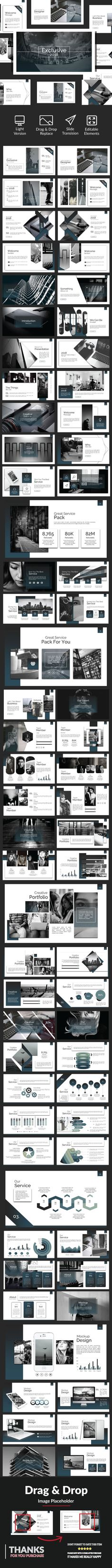 Experience #Google #Slide - Google Slides #Presentation Templates. Ultimate colorful style 70+ Unique slides Including portfolio Including team members etc. Very cool Very easy to customize Including mock-ups Images Placeholder Drag and Drop Image Clean, modern, multi-purpose design can be used for any type of presentation Professionally designed slides Strong focus on typography and usability.