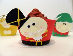 Nutcracker Cupcake Wrappers - Pick Your Colours - Set of 12 $18.15 #nutcracker #xmas #cupcake
