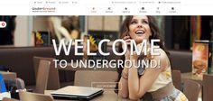 'Underground' responsive WordPress Theme. Op te zetten als 'one page' site of reguliere site met meerdere pagina's. Roterende header slider. Veel ruimte voor beeld. $45. Demo & download: http://themeforest.net/item/underground-2-in-1-responsive-wordpress-theme/5439858?ref=whoathemes