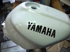 Réservoir Yamaha blanc nacré
