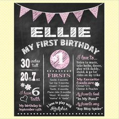 This is a custom printable chalkboard-look birthday sign. A wonderful way to add that special something to the event. I just love these chalkboard posters! Great as a photo prop too.
