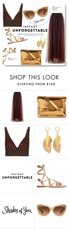 """""""Shades of You: Sunglass Hut Contest Entry"""" by viola279 ❤ liked on Polyvore featuring Marni, Gianvito Rossi and Coach"""