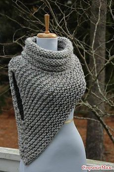Free Knitting Pattern for Cable Braid Edged Shawl in Bulky Multicolor Yarn croc .Free Knitting Pattern for Cable Braid Edged Shawl in Bulky Multicolor Yarn croc . Crochet Cowl Free Pattern, Knit Patterns, Crochet Stitches, Knit Crochet, Knitted Cowls, Crochet Granny, Crochet Scarves, Easy Crochet, Crochet Caplet