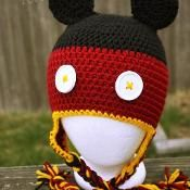 Mickey Mouse Hat - via @Craftsy