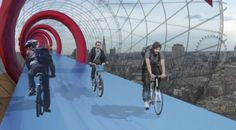 SkyCycle: Bike Lanes in the Sky | FutureDude™ Magazine
