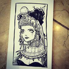 Memo pad doodle. Illustration Art, Illustrations, Creepypasta, Art Reference, Tarot, Character Design, Doodles, Ink, Art Prints